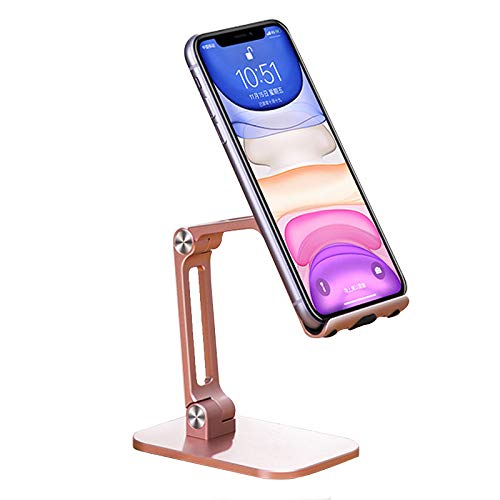 Soporte De Escritorio De Aleación De Aluminio, Ajuste De Elevación De 180 ° Diseño De Silicona Antideslizante Soporte Plegable Para Teléfono Móvil Flexible, Soporte Universal Para Teléfono Compatibl