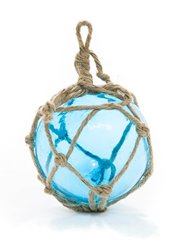 Nautical Crush Trading Aqua Glass Float Ball Large | Fishing Buoy Balls 5 | Perfect For Beach Weddings Or As Christmas Ornaments | tm (1 Pack)