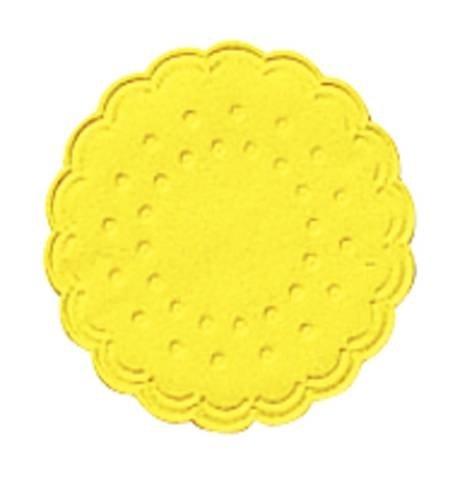 Tassenuntersetzer - Ø 7,5 cm,gelb, 25 Stück
