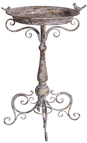 Vogeltränke Shabby Chic Vogelbad Metallschale Vogelbadewanne Tränke 74 cm aja188 Palazzo Exklusiv