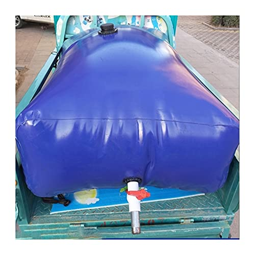 GYMEIJYG Bolsa De Agua Plegable, Vejiga De Agua Blanda De PVC Engrosada Portátil para Exteriores Cubo Flexible Plegable con Grifo (Color : Blue, Size : 1050L/1.5x1x0.7M)