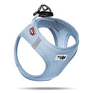 Curli Vest Harness Air-Mesh Dog Harness Pet Vest No-Pull Step-in Harness with Padded SkyBlue M