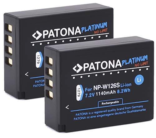 PATONA Platinum (2X) Ersatz für Akku Fujifilm NP-W126s NP-W126 (echte 1140mAh)