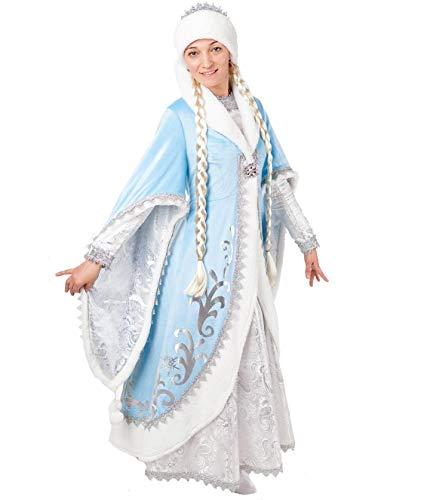 Pugowka Kostüm Snegurotschka Schneewittchen Hochwertiges Kostümkleid für Theater, Karneval oder Mottoparty