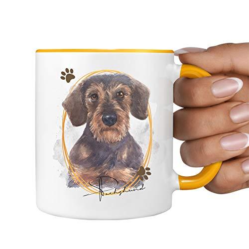 Rauhaardackel Tasse SIGNATURE DOGS Dackel Hund Motiv Hundemotiv Kaffee