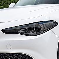 2個の車のヘッドライト保護フィルムスモークビニール透明TPUステッカー、アルファロメオジュリア9522016-現在