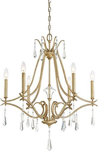 Minka Lavery 4446-582 Laurel Estate Crystal Chandelier Lighting, 6-Light 360 Watts, Brio Gold