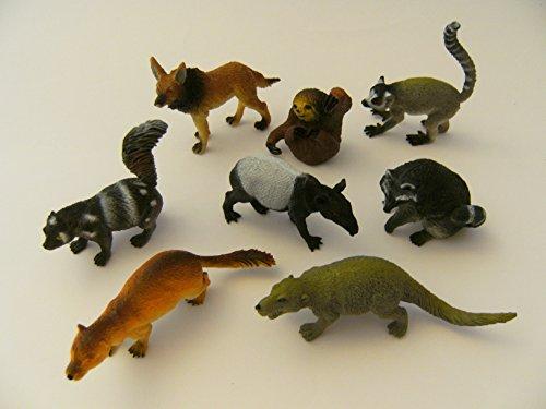 PIA International Waldtiere Wildtiere Zootiere 8er Spieltiere Spielzeug Tiere Tier Figur Figuren, Set 3