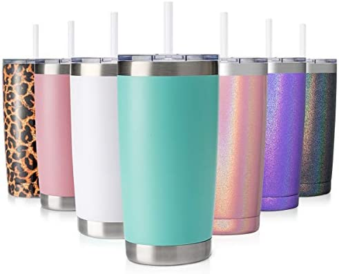 CIVAGO 20oz Tumbler with Lid and Straw Stainless Steel Vacuum Insulated Coffee Tumbler Cup Double product image