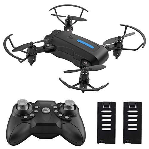 Mini FPV Drone Drone Pliable Quadricoptère RC avec Mode sans tête de Maintien d'altitude pour Enfant débutant
