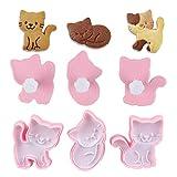 Miaison Lot de 3 moules à biscuits en forme de chat mignon, emporte-pièce, emporte-pièce, gâteau, pâtisserie.