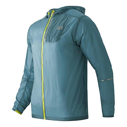New Balance de hombre chaqueta ligera empaquetable - MJ61226, Medium, Riptide