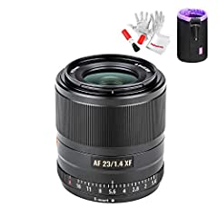 🌈Viltrox 23mm f1.4 fuji x mount autofocus lens is constructed of 11 elements in 10 groups, including one extra-low dispersion (ED) element and one high-refraction element. 🌈The autofocus lens features Viltrox's 'noiseless' stepping motor (STM focus m...