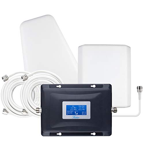 4 Bands Cell Phone Signal Booster AT&T T Mobile Verizon Signal Booster 5G 4G LTE Network Extender Cell Phone Booster Band 5/12/13/17 Cell Booster for Home LCD Screen Up to 5000sqft Boosts Data/Calls