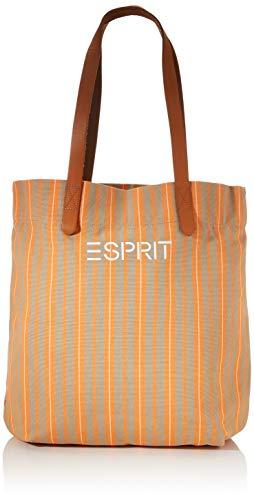 Esprit Accessoires Damen 020EA1O361 Shopper, 820/Orange, 1SIZE