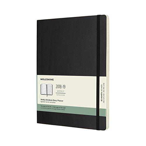 18ヶ月 ウィークリーダイアリー ソフトカバー XL [ブラック]