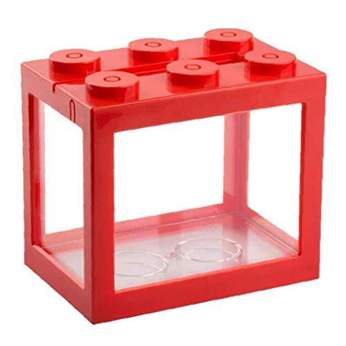 Mini Cube acquario, escursioni in acrilico Fish Tank per Goldfish e altri piccoli pesci, ideale per l'ufficio Soggiorno Tavolino Desk Decoration