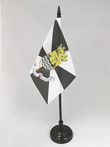 AZ FLAG TISCHFLAGGE LISSABON 15x10cm - Lisboa TISCHFAHNE 10 x 15 cm - flaggen
