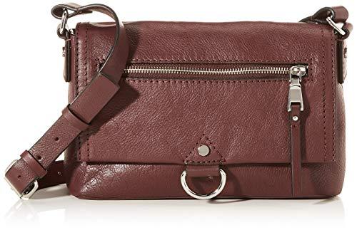 Esprit Accessoires Damen Foc_xea Smshlba Umhängetasche, Rot (Bordeaux Red), 8x16x24 cm