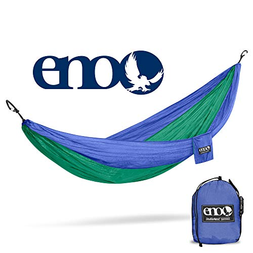 ENO - Eagles Nest Outfitters DoubleNest Hammock, Portable Hammock for Two, Royal/Emerald (FFP)