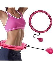 ZBSY Verstelbare sport buik hoepels dunne taille afneembare oefening massage hoepels fitness apparatuur gym thuis training gewichtsverlies