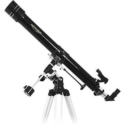 L'instrument collecte 36% plus de lumière qu'un télescope de 60 mm. Image nette et bien contrastée Porte-oculaire 31,75 mm pour tous oculaires standardLa monture EQ-