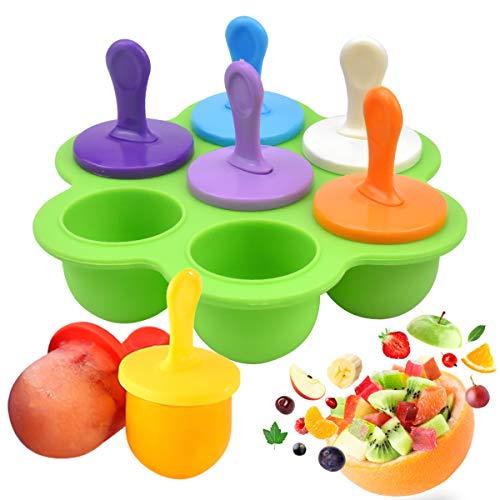 NATUCE Eisformen Silikon, Eisformen EIS Am Stiel Silikon, Wiederverwendbar Eisformen Popsicle Formen Set, Eisform Silikon, Eisförmchen Popsicle Formen, Spülmaschinenfest - BPA Frei