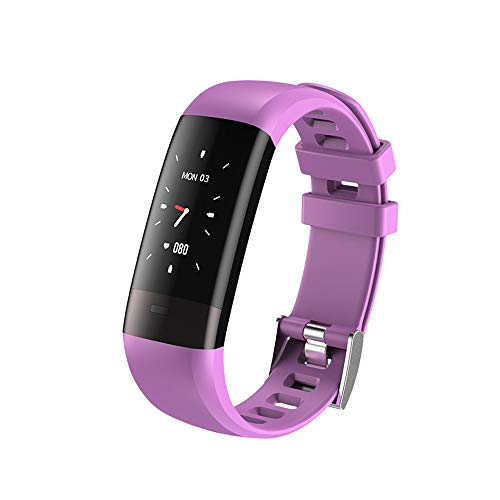 XuQinQin Pulsera Inteligente multifunción, Control de Salud, Registro Deportivo, Reloj Impermeable 250X12X19.5mm - Tres Colores Opcionales Reloj tecnológico (Color : C)