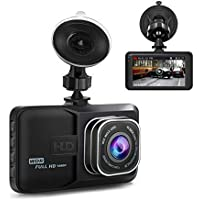 Ananteke 1080p HD Dashboard Camera Video Recorder with 3