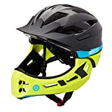 Gotrax Kids Bike Helmet, CPSC Certified Ultralight Cycling Helmet, Breathable Adjustable Toddle Helmet for Bicycle Skateboard Scooter Rollerblading(20-22 Inches) (Black/Green)