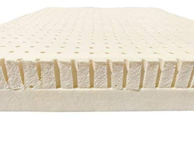 """OrganicTextiles Organic Latex Mattress Topper, Queen Size 3"""" Inch, GOLS Certified, Dual Firmness: Soft and Firm Sides for Comfort, Premium Organic Cotton Cover Protector for Extended Durability,"""