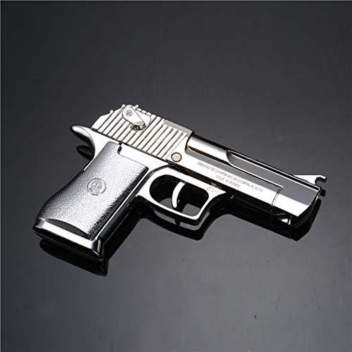 QIDUDZ 1/3 Águila del Desierto plegable con banda de goma modelo de pistola llavero de figuras de arte juguetes colgante para regalo suministros de fiesta para adultos y niños (plata)