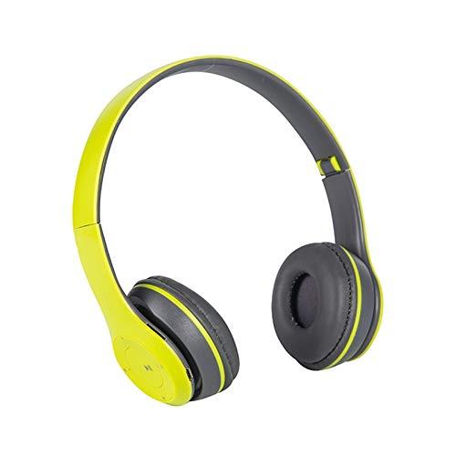 Qric ヘッドセットミュージックステレオヘルメットヘッドセットゲーム折りたたみ式携帯電話タブレットギフト新しいヘッドフォン5.0 Bluetoothヘッドセットヘッドセット (Color : B)