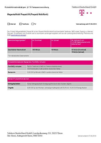 Magenta Mobil Start M Xtra Karte Telekom 10 Euro Guthaben Prepaid Handy SIM T-Mobile zum selber registrieren