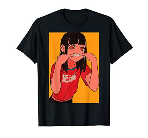 Anime Girl Lofi Aesthetic Retro 90s Japanese Waifu Kawaii T-Shirt