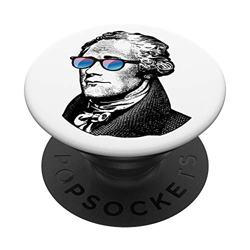 George Washington Sunglasses Face - Detailed Graphic Design PopSockets Grip and Stand for Phones and Tablets