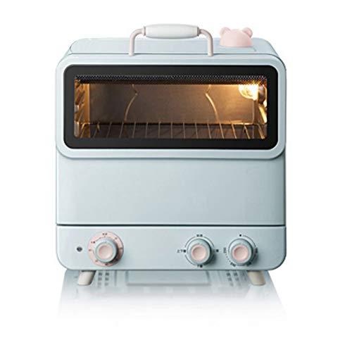 Digitale Ofen, Kratzfester Auftauprogramme Timer Kindersicherung Energiesparmodus Glasdrehteller Edelstahl Automatische Anzeige Garzustands, 1200 W, Blau