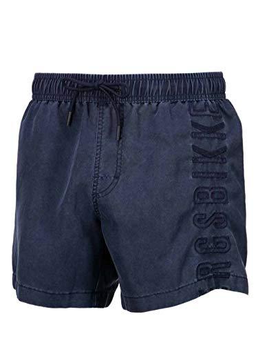 Bikkembergs Boxershorts für Herren, blau, Denim-Effekt, Jeans, Blau Medium