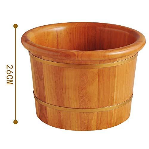 Pied de bain baril chêne épaissie pied baril 26cm bain de pieds lavage des pieds aromathérapie avec couvercle pied baril maison pour améliorer le sommeil, donner aux parents un cadeau.SCBJB-A