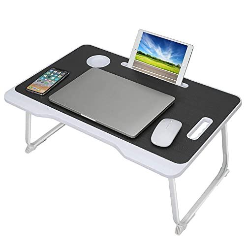 AWJ Bandeja de Cama para computadora portátil, Mesa con asa,Escritorio de Regazo...