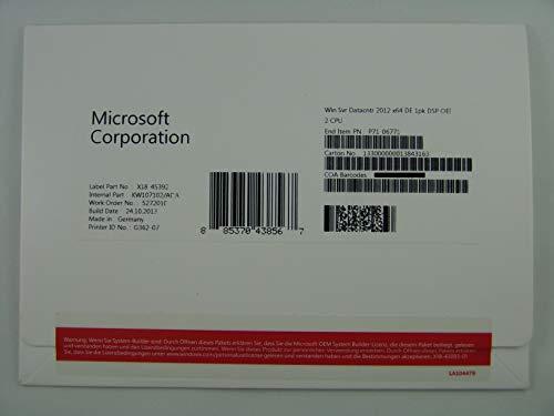 Systembuilder Windows Server Datacenter 2012 x64 Deutsch 1pk DVD 2 CPU / ACHTUNG : keine CAL enthalten! [import allemand]