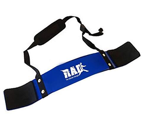 Rad Bizeps-Isolator-Gurt, Bizeps-Blaster, für Langhantelstange, Gewichtheben, Armtraining blau