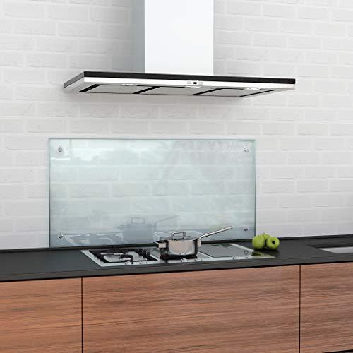 glasshop24 Spritzschutz Küche Glas Küchenrückwand Glas, Spritzschutz Herd Glas-Platte Wand, Küchenwand - Glasrückwand, Klarglas 50 x 100 cm, inkl. Montageset