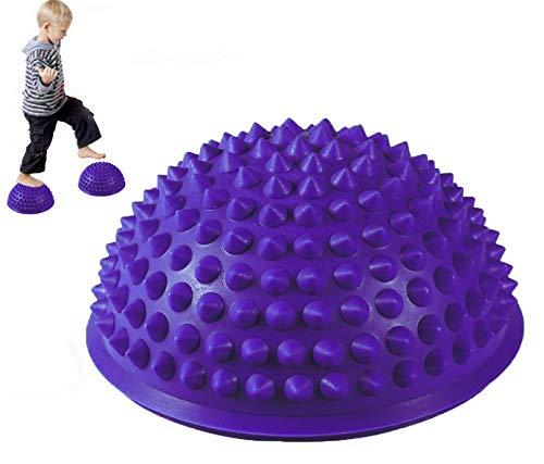 MT-Sport 半球 バランスボール 2個セット 大人から子供まで フット ヘルス ボール ミスター アルマジロ バランス トレーニング【空気入れおまけ付】 (Purple)