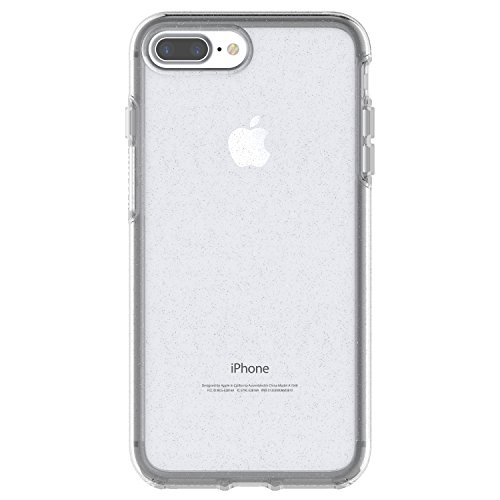 OtterBox SYMMETRY CLEAR SERIES Case for iPhone 8 PLUS & iPhone 7 PLUS (ONLY) - Retail Packaging - STARDUST (SILVER FLAKE/CLEAR)