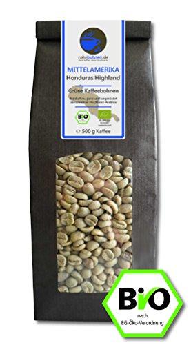 Bio Rohkaffee - Grüner Hochland Kaffee Honduras Highland (grüne Kaffeebohnen 500g)