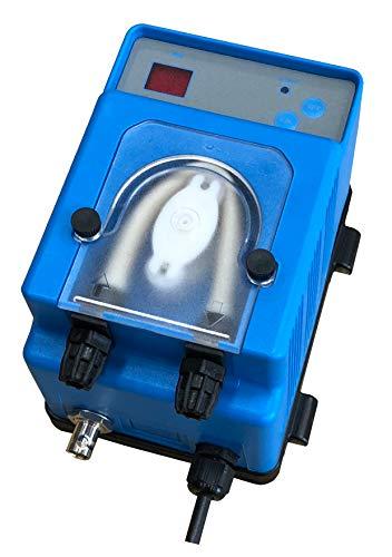Bomba dosificadora peristáltica con dosificación proporcional a la medida del pH modelo MP2SP – 1,5 l/h 230 Vac, tubo membrana Santopreno para dosificación ácido (pH-)