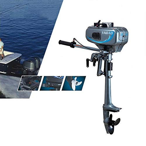 Kaibrite 3.5-7 PS 2-Takt Bootsmotor Elektromotor Außenbordmotor Außenborder Schlauchboote Fischerboote Bootsmotor Angeln 2Takt Boat Engine Motor, CDI Wasserkühlen System