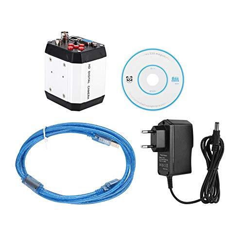 Microscopio industriale HD DC 220 V 2 MP, telecamera video con supporto C VGA USB CVBS, interfaccia 1920 × 1080 (spina europea)
