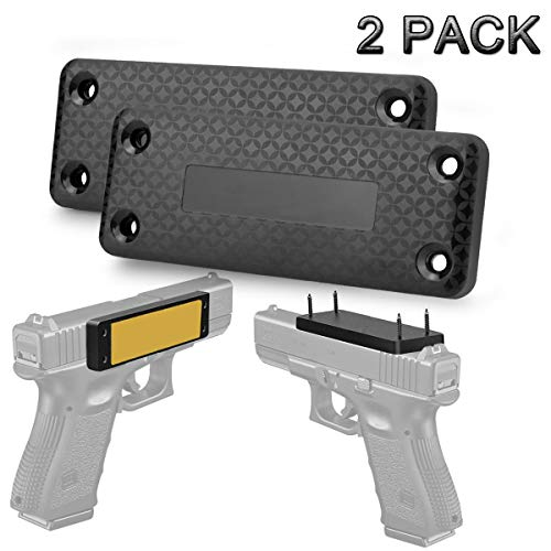 2 Pack Magnetic Gun Mount & Holster for Vehicle and Home - 37.5Lbs Car Holster Concealed Carry Holster for Handgun Pistol Revolver Magazine in Truck, Vehicle, Wall, Vault, Bed,Bedside